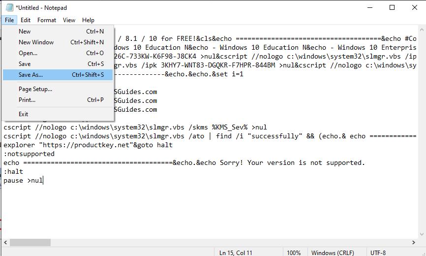 """kode untuk menghilangkan watermark """"activate windows"""""""